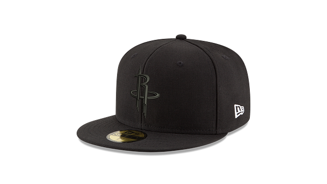 HOUSTON ROCKETS BLACK ON BLACK 59FIFTY FITTED