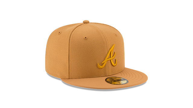 ATLANTA BRAVES TAN NUBUCK 59FIFTY FITTED