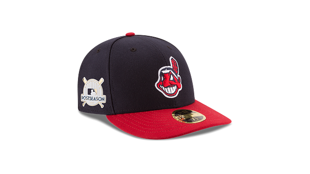 CLEVELAND INDIANS POSTSEASON SIDE PATCH AC LOW PROFILE 59FIFTY FITTED