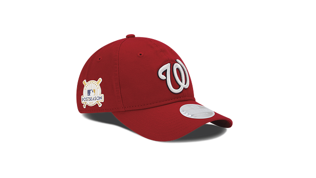 WOMENS WASHINGTON NATIONALS POSTSEASON SIDE PATCH 9TWENTY ADJUSTABLE 3 quarter right view