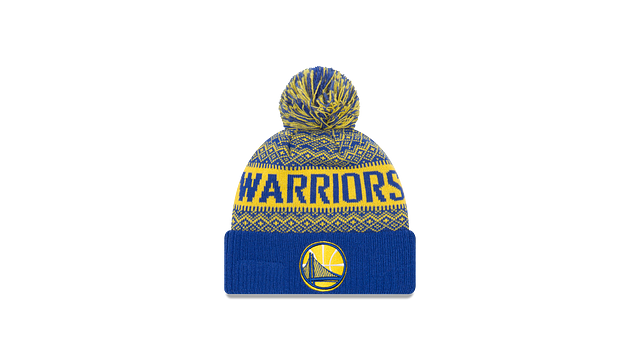 GOLDEN STATE WARRIORS WINTRY POM KNIT Front view