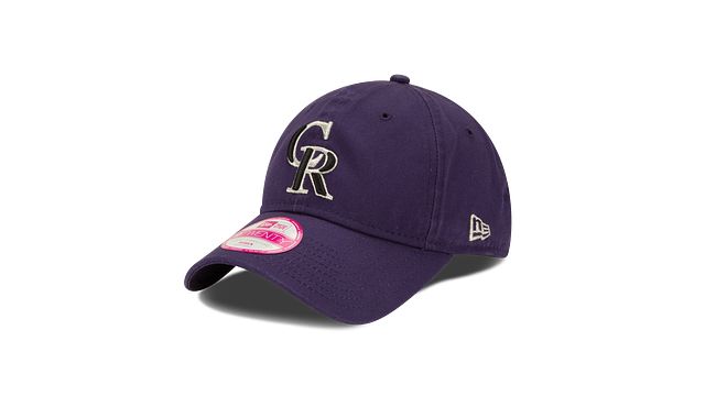 WOMENS COLORADO ROCKIES POSTSEASON SIDE PATCH 9TWENTY ADJUSTABLE 3 quarter left view