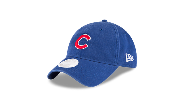 WOMENS CHICAGO CUBS POSTSEASON SIDE PATCH 9TWENTY ADJUSTABLE 3 quarter left view