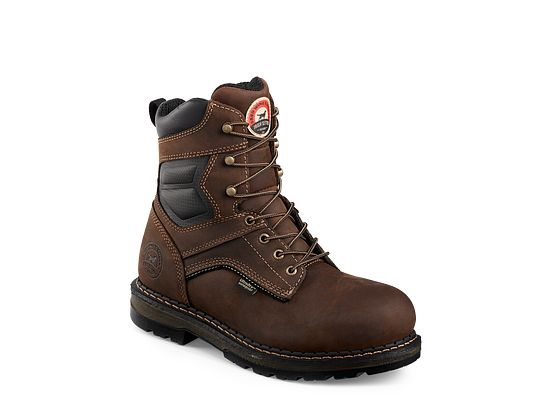 Irish Setter Mens Brown Boots 83801 8 Inch Lace Up Eh