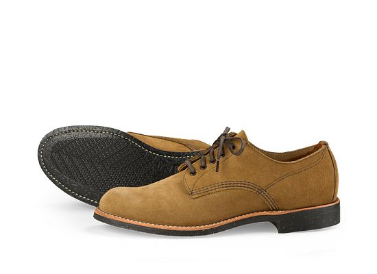 Red Wing Mens Merchant Oxford 8043 Olive Suede Shoes 42.5 EU LGIyk5b