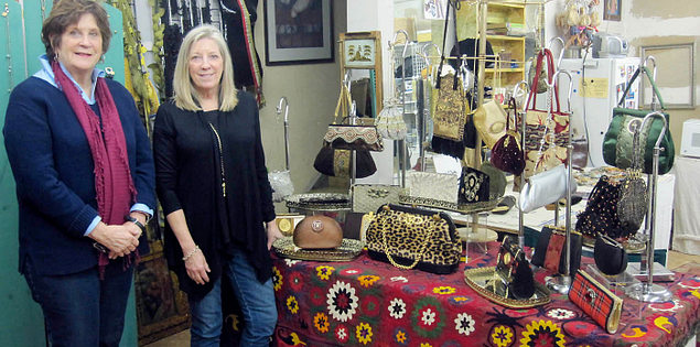 Artists Ruth Bayard and Nora Floyd of A Checkered Past in Columbia, South Carolina