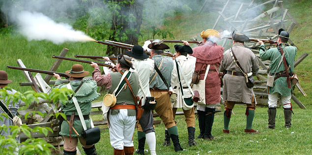 Reenactment at Musgrove Mill