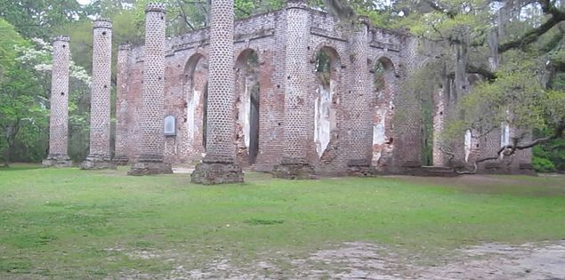 18th century church Sheldon Church ruins