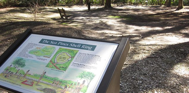 The Indian Shell Ring in Hilton Head Island's Sea Pines Forest Preserve is more than 4,000 years old.