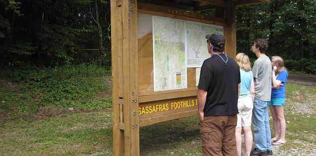 Map at Foothills Trail