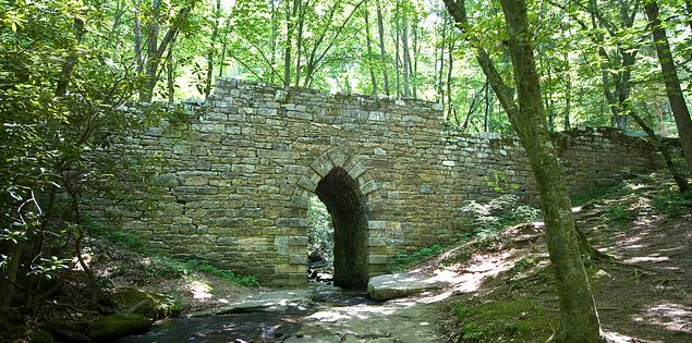 The Poinsett Bridge, spanning the Little Gap Creek is the oldest intact bridge in South Carolina.