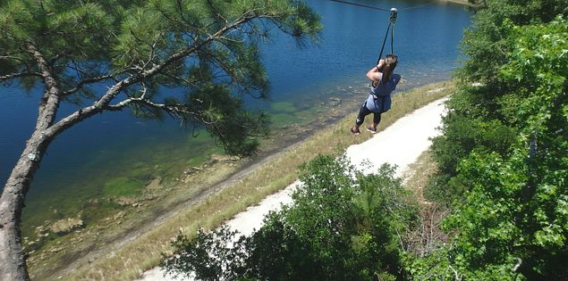 Try zip lining if you're looking for things to do in SC.
