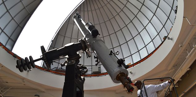 The observatory at the South Carolina State Museum in Columbia, SC.