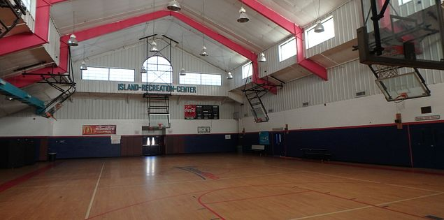 The Island Recreation Center's indoor gym in Hilton Head Island, SC.