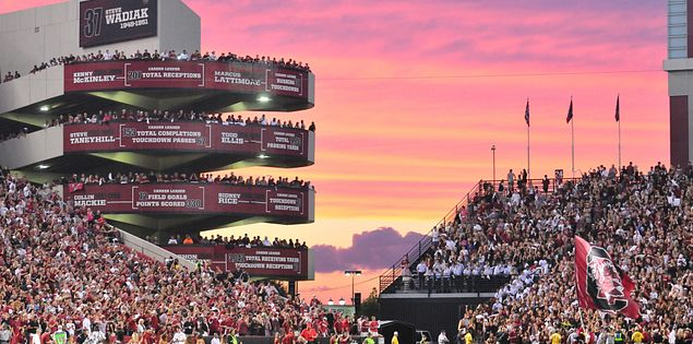 Williams-Brice Stadium, the home of the University of South Carolina Gamecocks in Columbia, SC.