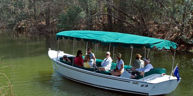H20 Sports' guided boat tour on Hilton Head Island