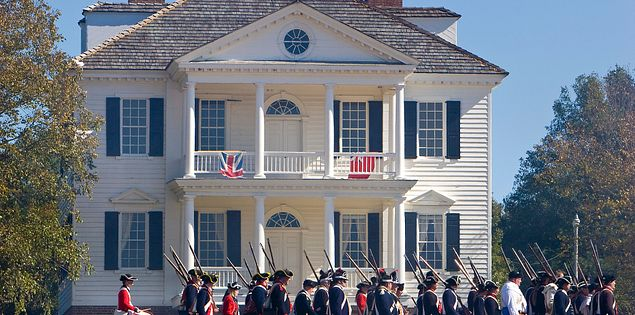 Historic John Craven House at the Camden Revolutionary War Reenactment