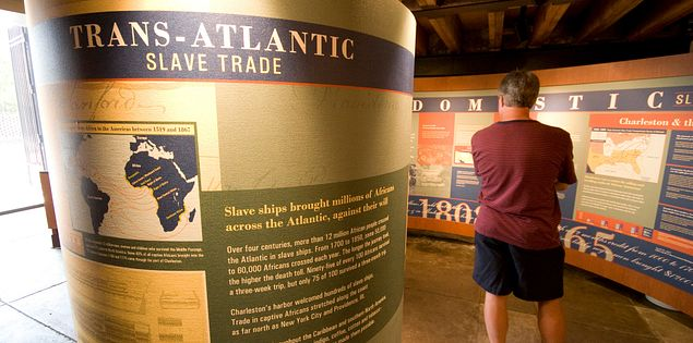 An exhibit in the Old Slave Mart Museum in Charleston, SC.