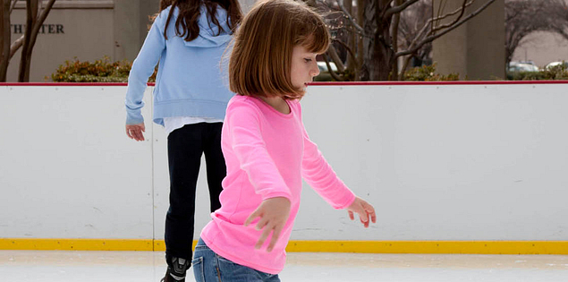 Ice Skating in downtowns around South Carolina