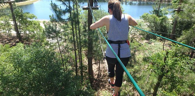 Ziplining in Myrtle Beach is fun for the entire family!
