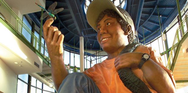 Eddie, the world's largest 10-year-old boy, at EdVenture Children's Museum in Columbia.