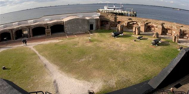 Seacoast Artillery at Fort Sumter