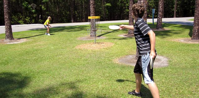 Disc golf at Segeant Jasper Park in Hardeeville, SC.