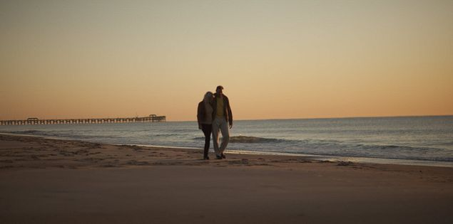 Mrytle Beach Couple Romantic Walk