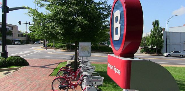 B-Cycle, Spartanburg, SC's bicycle loaner program.