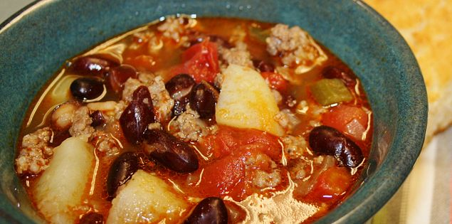 Efird's family favorite Sausage Bean Chowder
