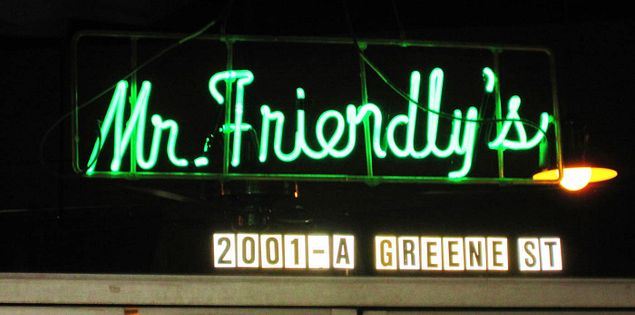 Mr. Friendly's is a popular place to eat in Columbia, SC.