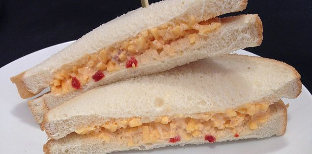 Traditional Southern foods like pimento cheese are served at the concession.