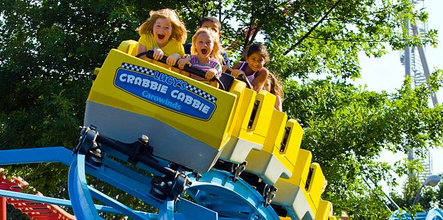 There are plenty of roller coasters for kids at Carowinds.