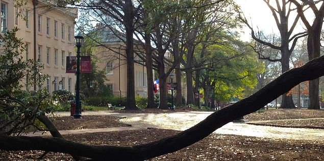 The University of South Carolina's historic Horseshoe in Columbia