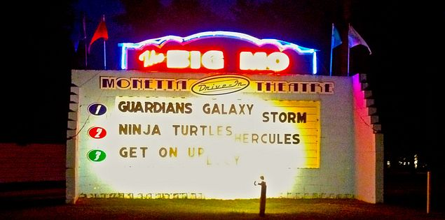 Monetta Drive-In old-fashioned movie theater in Monetta, South Carolina