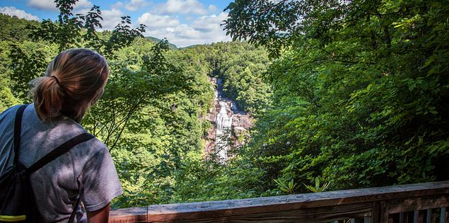 Overlooking Lower Whitewater Falls