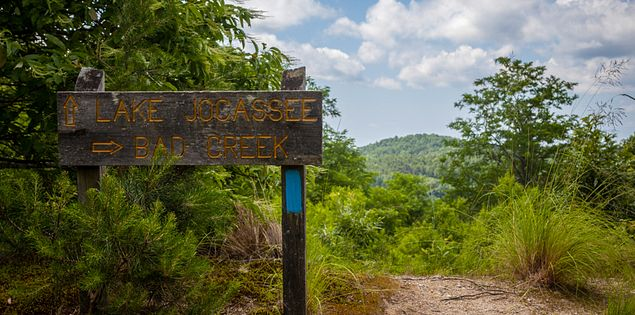 Trail Sign on the Bad Creek Foothills Trail