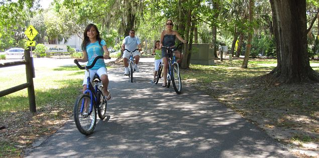 Bike riders on Hilton Head Island's more than 100 miles of multi-use trails