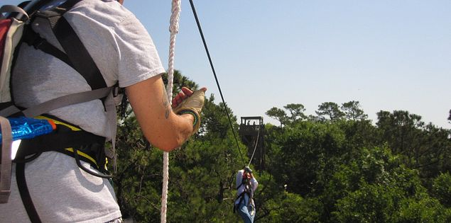 Ziplining on Hilton Head Island