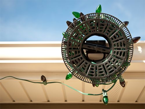 how to install outdoor christmas lights - Christmas Light Storage Reels