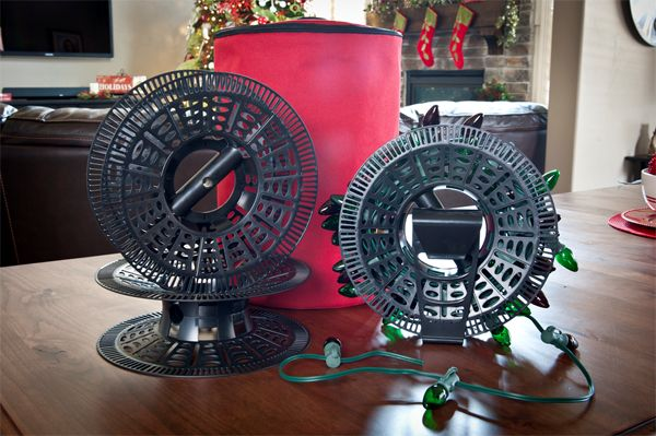improper storage can damage christmas lightsyou can use a christmas light storage reel to keep your lights tangle free throughout the off season - Christmas Light Storage Reels