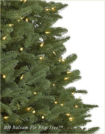 Branch tips of BH Fraser Fir artificial Christmas tree
