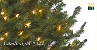 Artificial Christmas tree with Candlelight™ LED lights