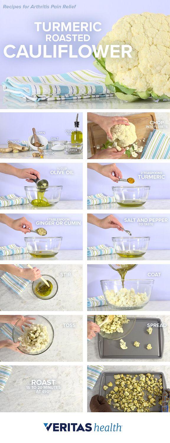 Turmeric Roasted Cauliflower for Arthritis Pain Relief