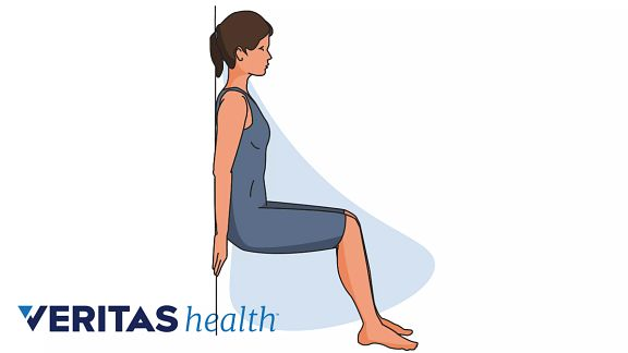 Wall squats for pregnancy relief and core strengthening