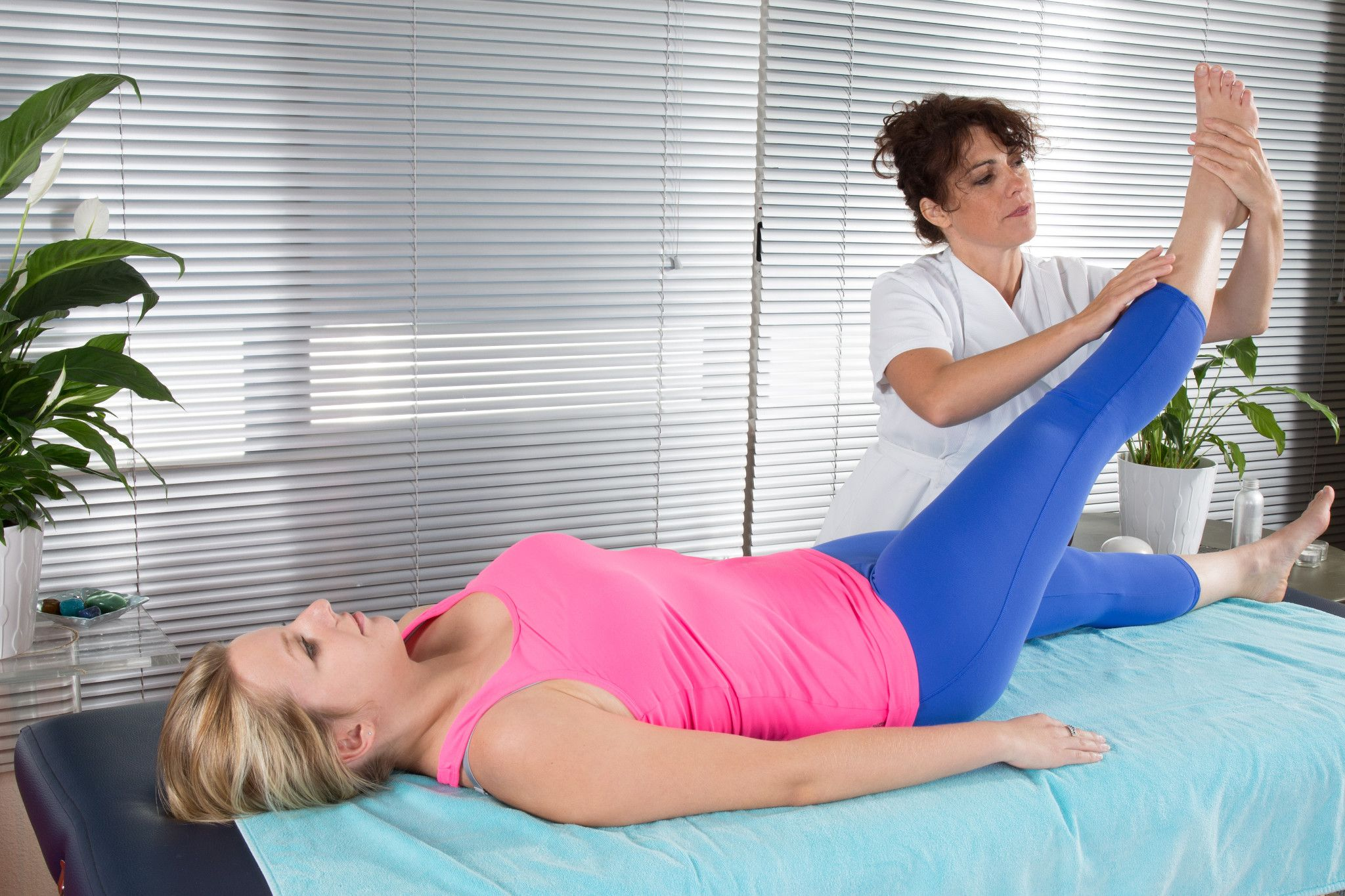 patient with physical therapist