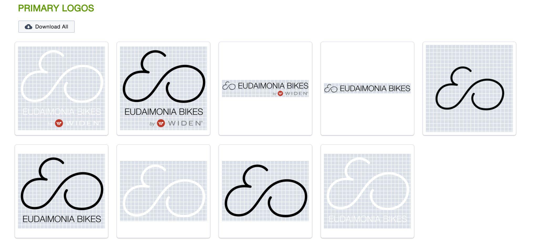 Eudaimonia Bikes Brand Kit Logos Example