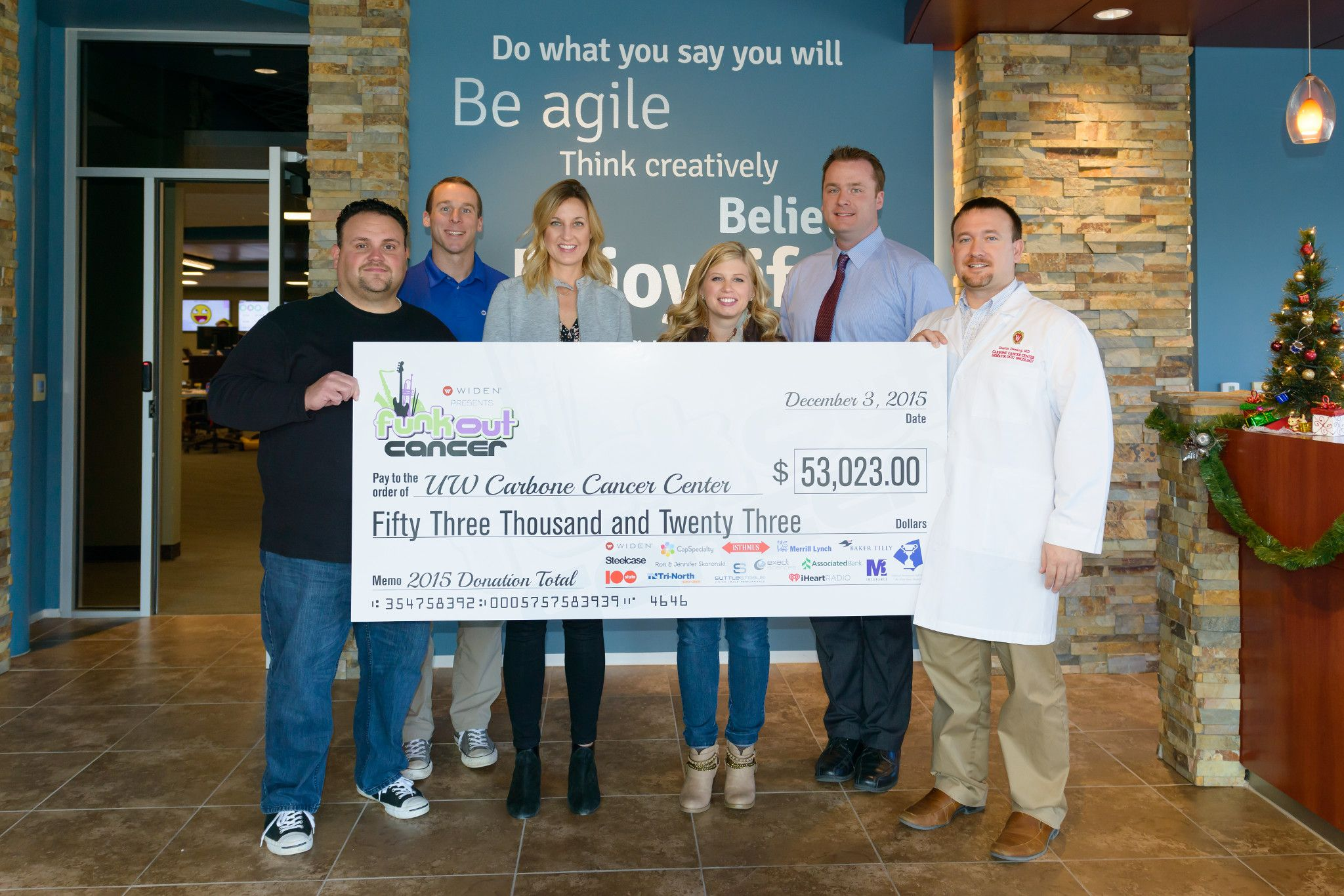 Funk Out Cancer check presentation 2015