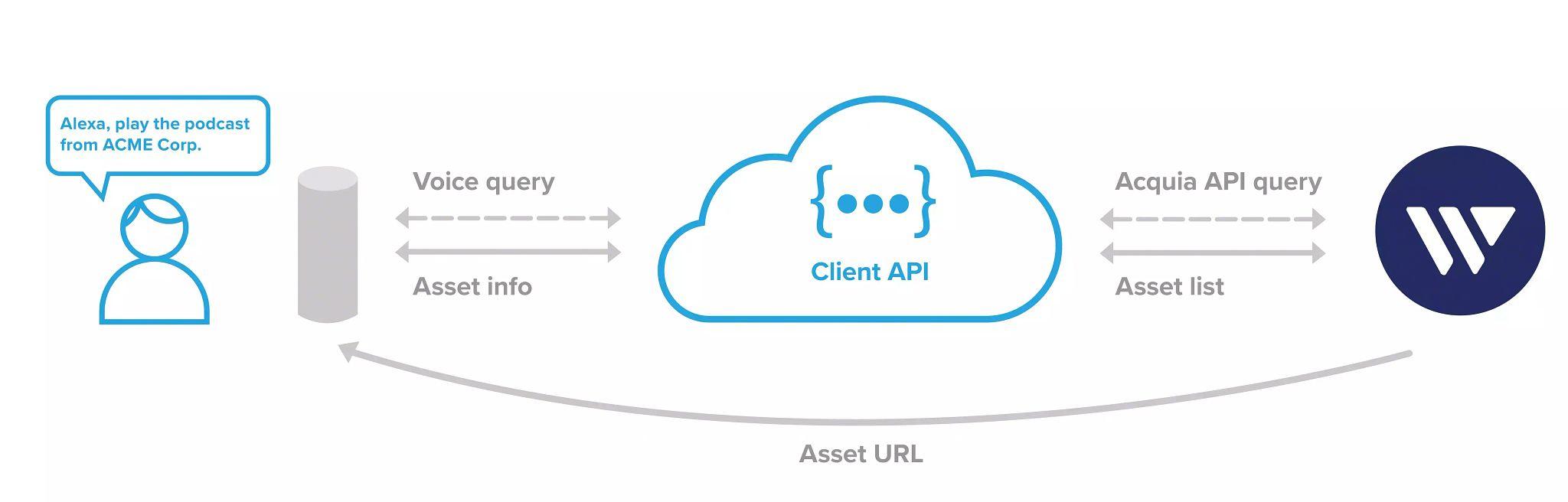 Amazon Alexa to Digital Asset Management API Infographic