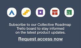 Request access to our Collective Roadmap Trello boards.